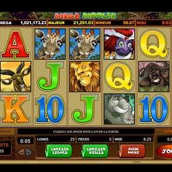 Jackpot Progressif Mega Moolah sur Lucky31 Casino