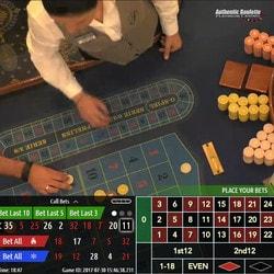 Platinum Roulette en direct du Platinum Casino de Bucarest sur Dublinbet
