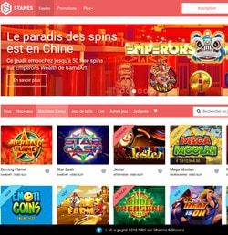 Stakes Casino pour joueurs francophones