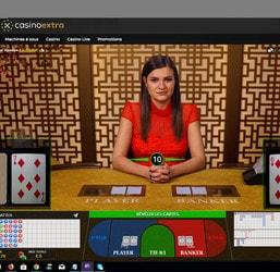 Baccarat Control Squeeze sur Casino Extra, la table #1 de baccara en ligne