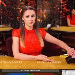 Zoom sur les tables de baccarat live sur Dublinbet