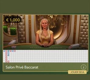 Salon Privé Baccarat en live