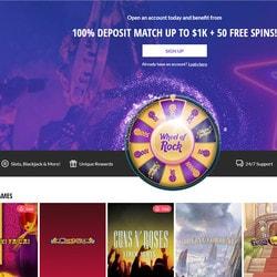 Jeux en live Evolution Gaming sur le casino Hard Rock Casino Atlantic City