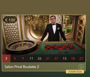 Roulette Salon Privé est la table de roulette en ligne VIP