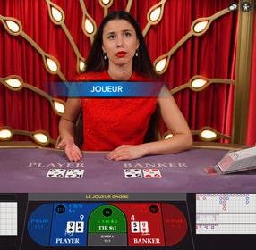 La table No Commission Speed Baccarat pour jouer rapidement sans payer de frais