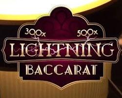 Lightning Baccarat d'Evolution Gaming